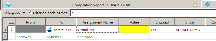 Compilation Report - SDRAM_DEMO