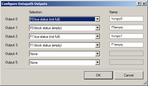 Configure Datapath Outputs