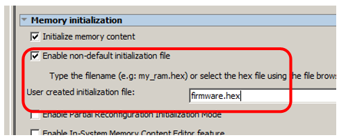 Enable non-default initialization file
