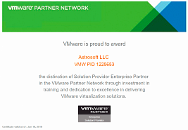 Solution Provider Enterprise Partner in the VMware Partner Network